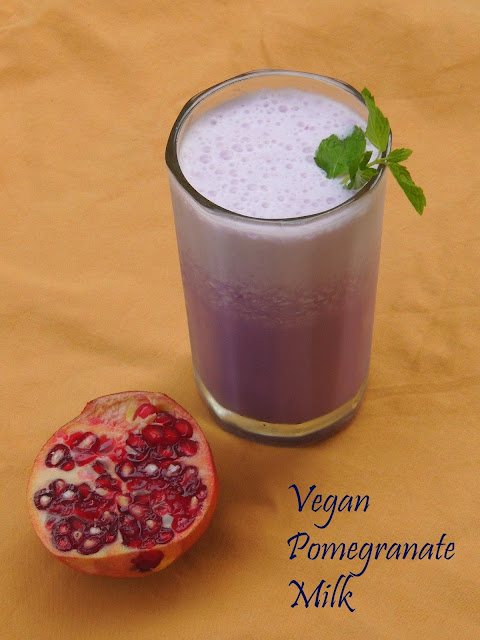 Pomegranate with Almond Milk