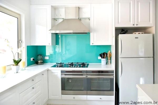 Construindo minha casa clean revestimento para parede da - Resina in cucina al posto delle piastrelle ...
