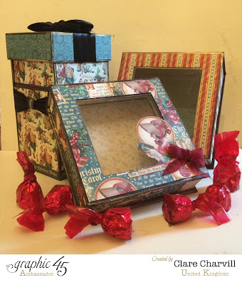 Christmas Gift Box Kits by Clare Chravill Christmas Carol Graphic 45