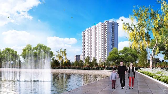 Toàn cảnh của dự án Amber Riverside Minh Khai