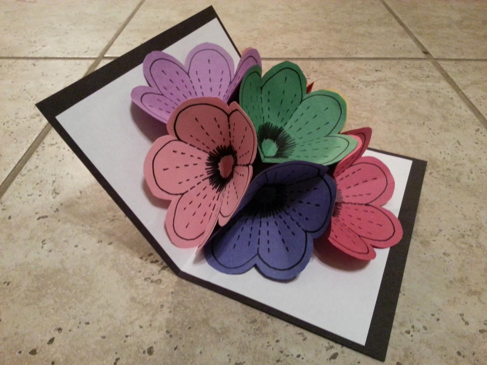 crafty schmafty  flower popup card