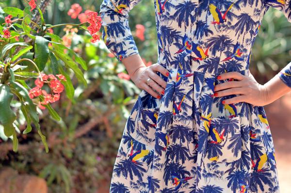 Robe motifs palmiers