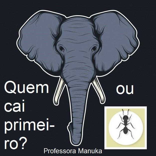 Quem cai primeiro: um elefante ou uma formiga?