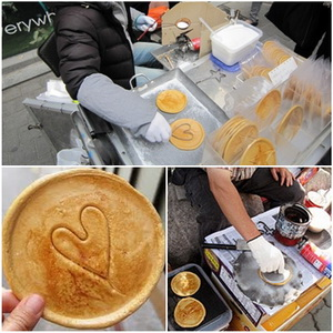 bbopki korean sugar cookies street food