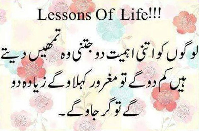 Lessons Best Quotes About Life In Urdu
