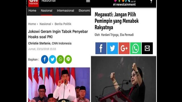 Jokowi Mau 'Tabok' Penyebar Hoax, Megawati: Jangan Pilih Pemimpin Tukang Tabok Rakyat