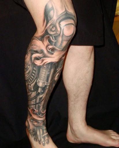 Biomecânica Perna Tatuagem