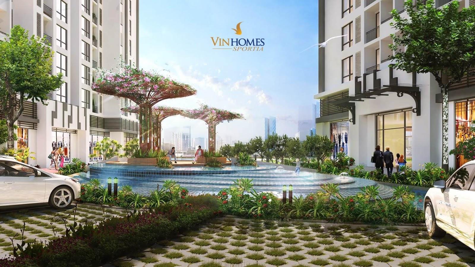 Không gian xung quanh chung cư Vinhomes Sportia