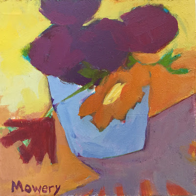 small floral painting by Maryland artist barb mowery available for purchase in her etsy shop bbmowery