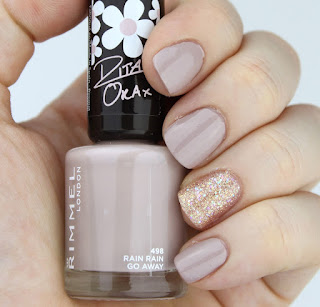 Rimmel Rain Rain Go Away Nail Polish Butter London Tart With A Heart nail swatch