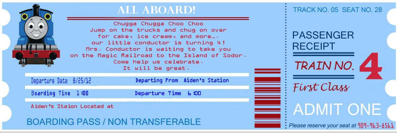 Birthday Parties Thomas The Train