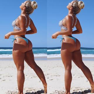 Bikini girl losing weight