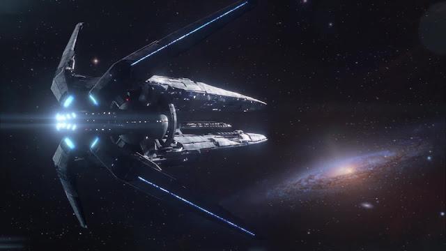 Ambientación de nave espacial del videojuego de exploración espacial Mass Effect Andromeda