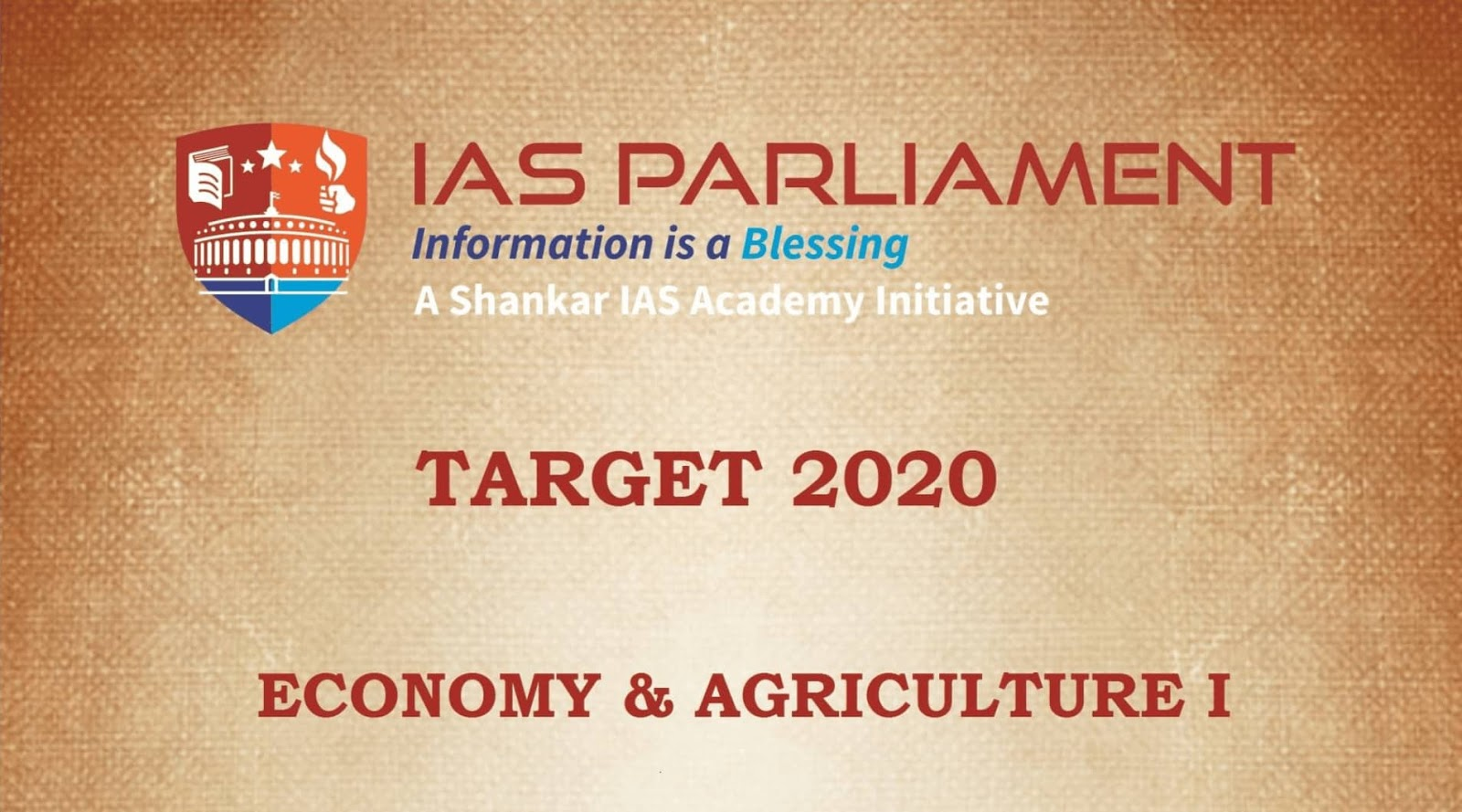 Economy and Agriculture I