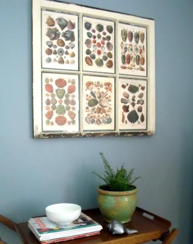 decor ideas for old window frames