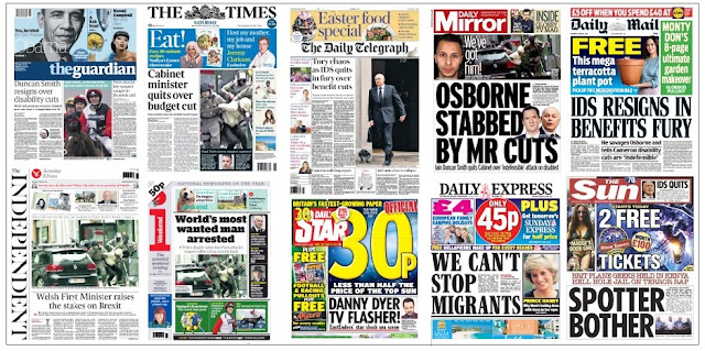 front pages 19-03-16