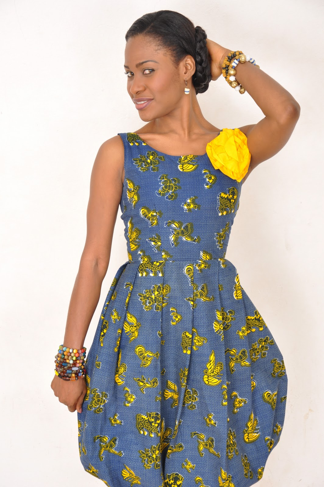 Ebi Bright Sparkles In African Fabric
