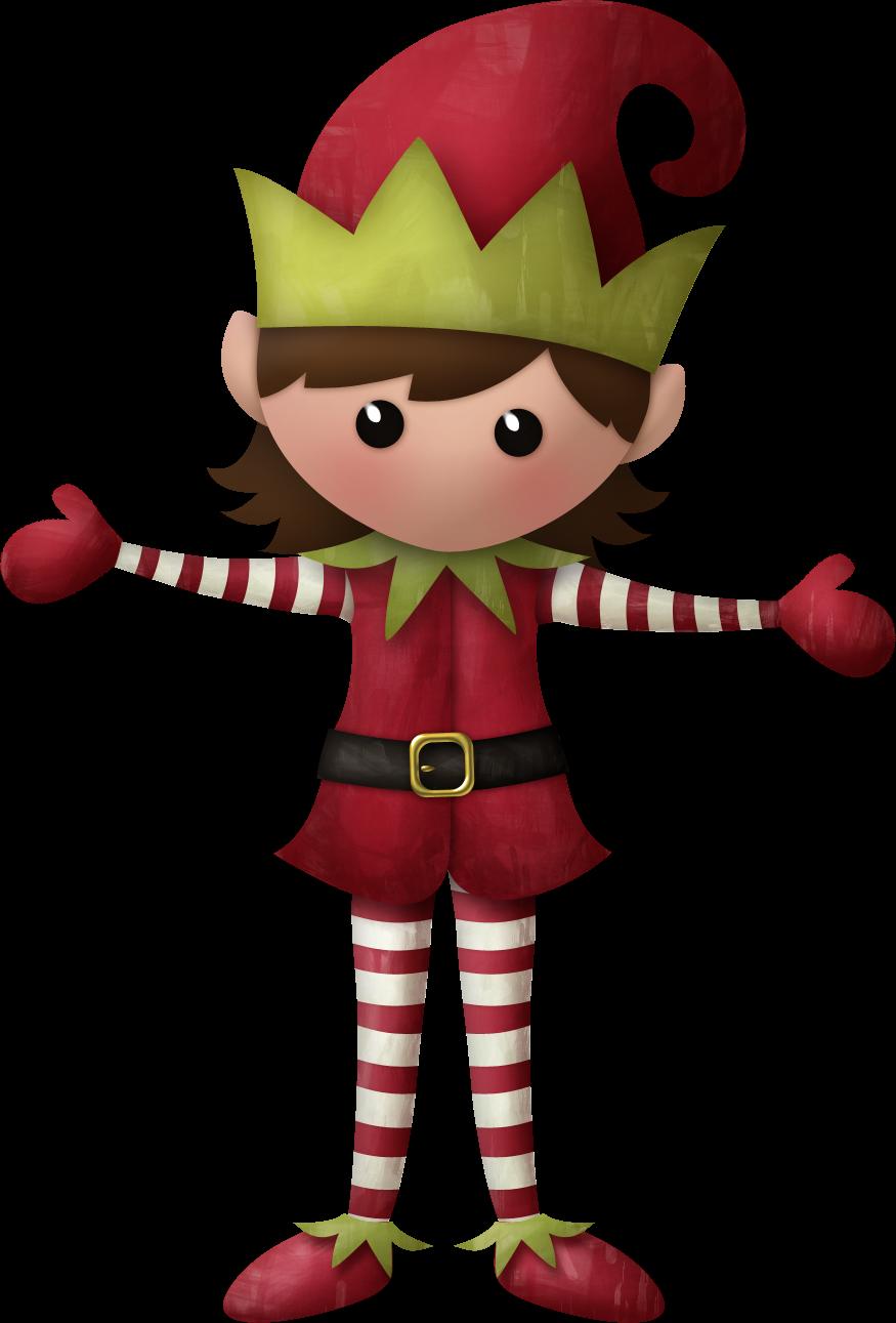 Elves of the Helping Santa Clip Art. - Oh My Fiesta! in ...