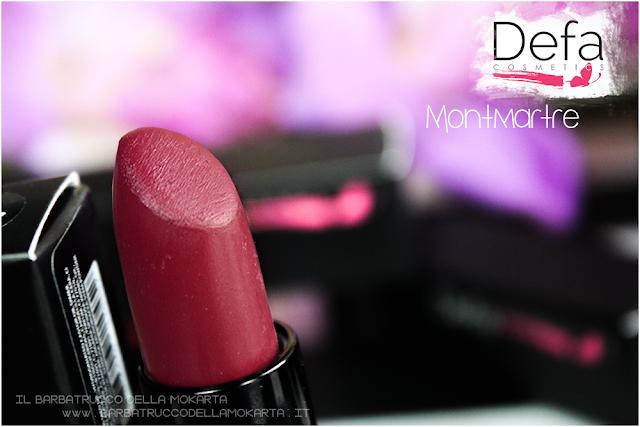 montmartre recensione Defa cosmetics lipstick