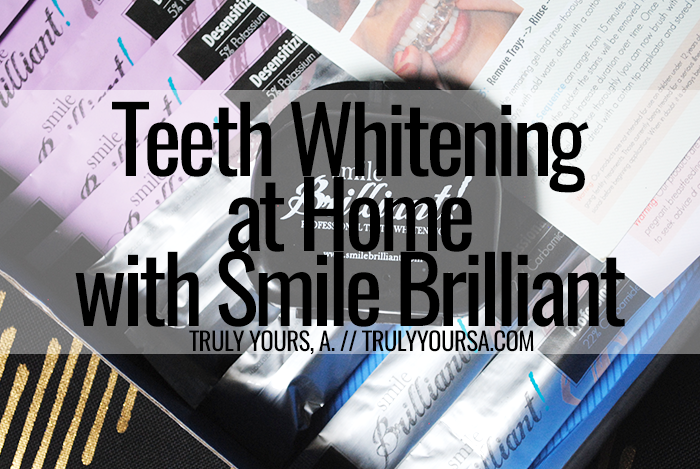 White smiles are always in fashion and with the help of Smile Brilliant I was able to whitening my teeth I wanted without an expensive dentist visit or painful tooth sensitivity! I was beyond skeptical about using this kit due to my sensitive teeth. I've tried at-home kits in the past and the results were less than stellar and my teeth were ultra-sensitive afterward. I was lucky enough to give the Smile Brilliant teeth whitening kit a try and I was blown away by the results!