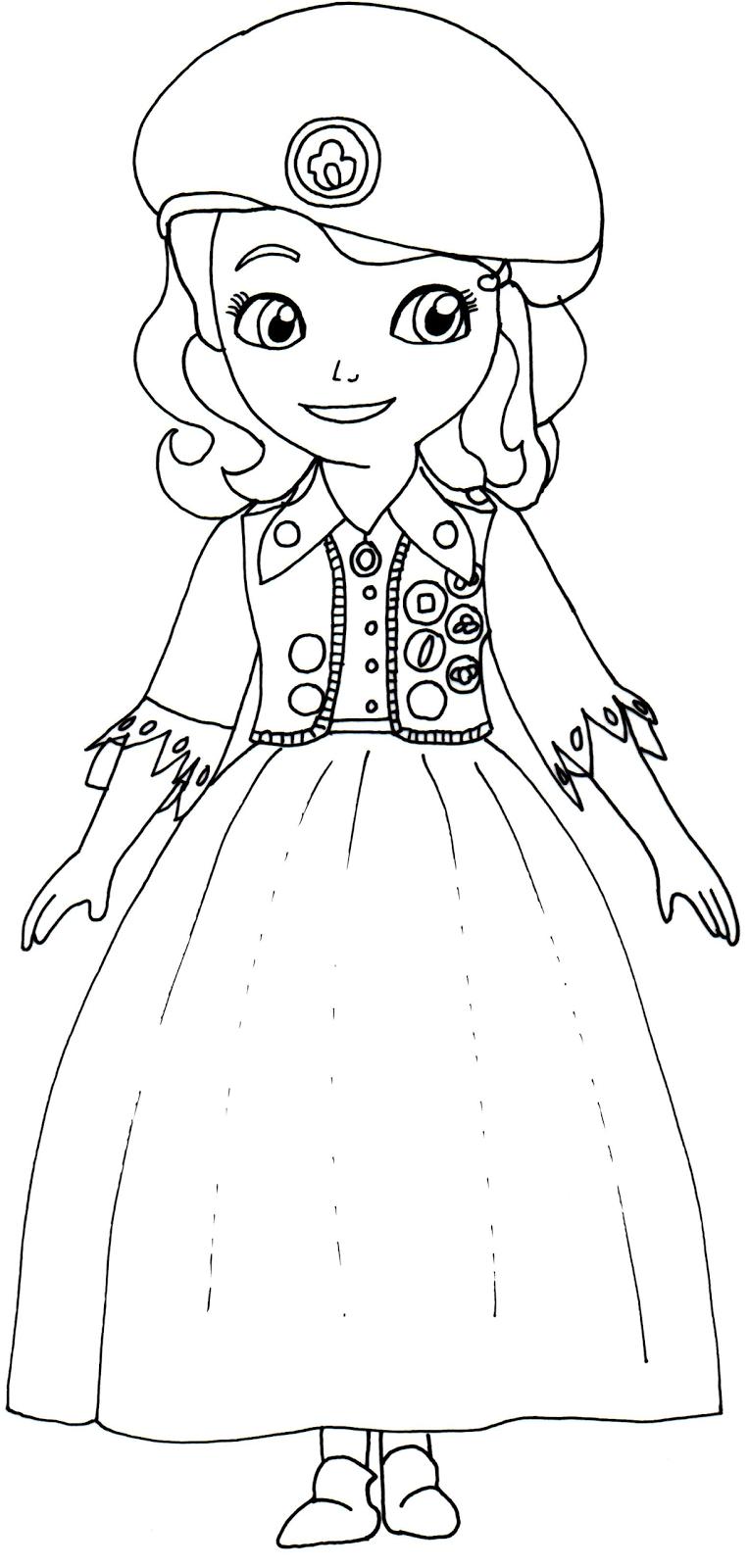 Desenhos Da Princesa Sofia Para Colorir Toda Atual