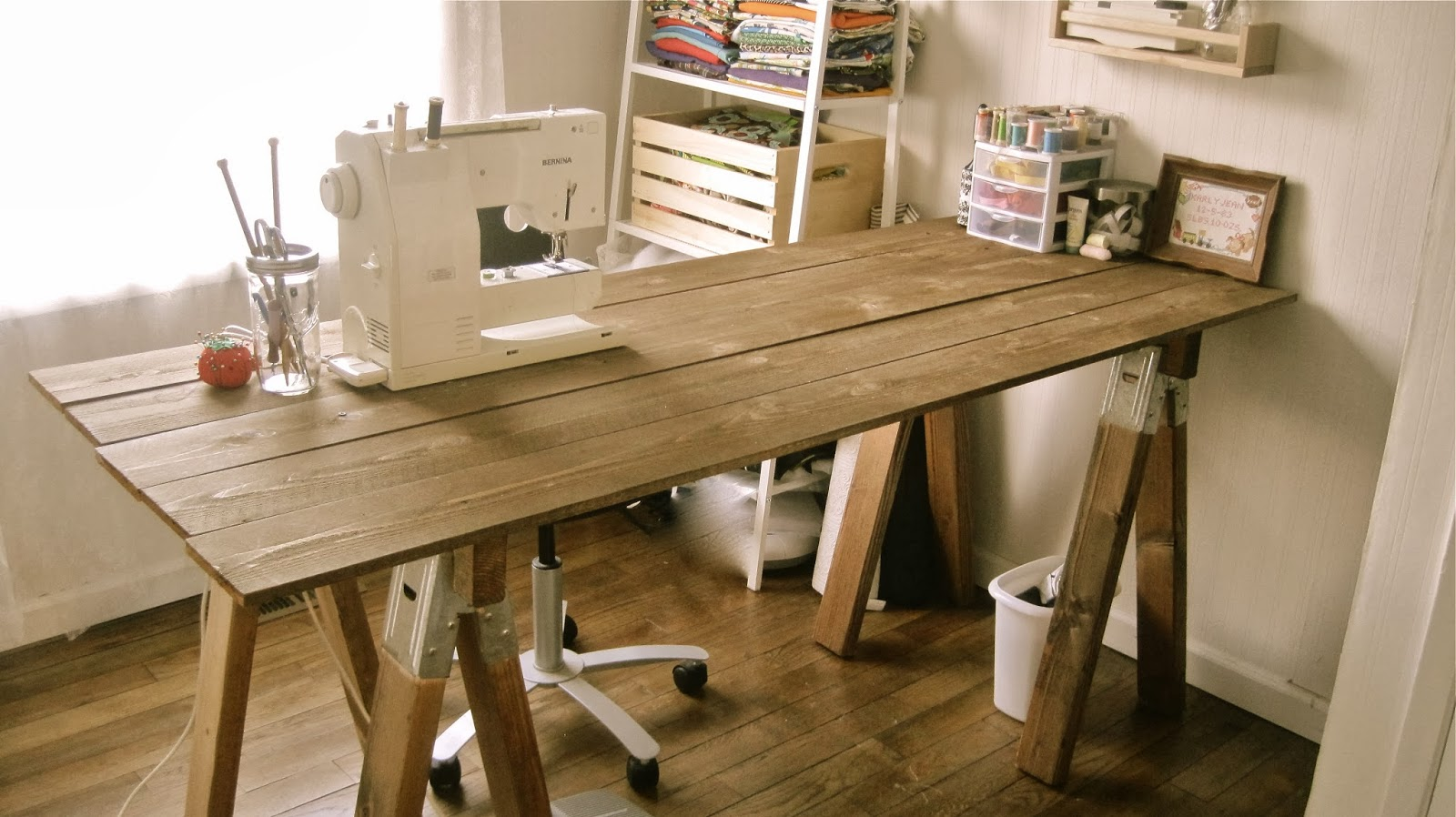 Muddy Boots & Bobbins: Rustic SawHorse Table Tutorial