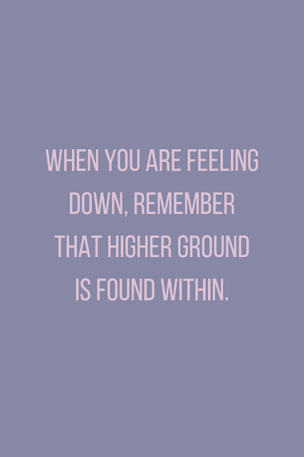 You have to be the higher ground. You don't have time to drown below.