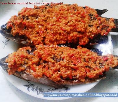 Ikan bakar sambal bara isi khas Manado