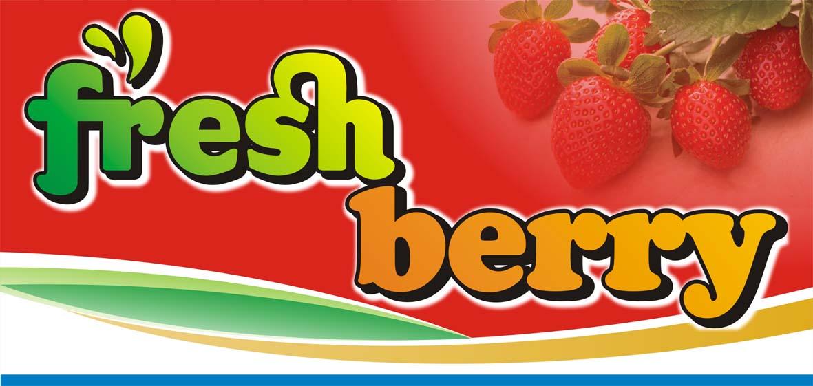 Desain Banner  Spanduk FRESHBERRY  FutureX