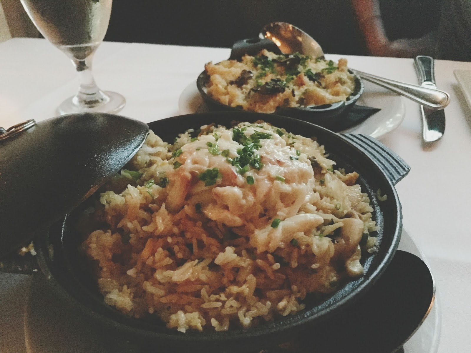 crab fried rice at Eddie V's - A restaurant in Houston, Texas