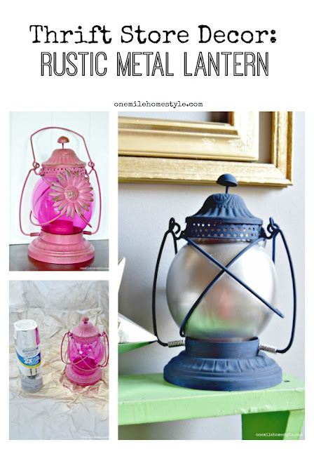 Don't overlook that tacky thrift store lantern! Turn it into the perfect rustic home accent with just a little paint!