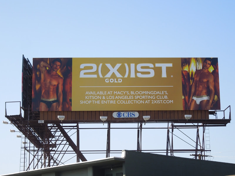 2(x)ist Gold mens underwear billboard