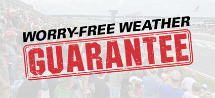 Pocono Raceway's 'Worry-Free Weather Guarantee'