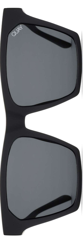 Quay x Missguided Alright 55mm Square Sunglasses Black/Smoke