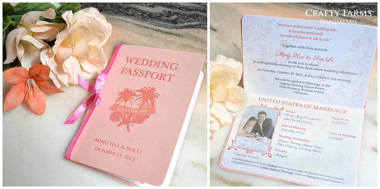 Wedding Card Malaysia Crafty Farms Handmade Beach