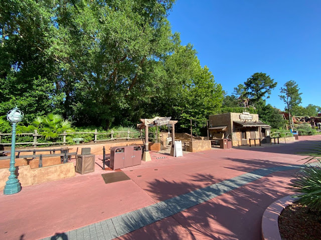 Disney Magic Kingdom Reopening Preview, Relaxation Station near Golden Oak Outpost at the border of Frontierland and Adventureland, New Safety Precaution and Social-distancing Practice