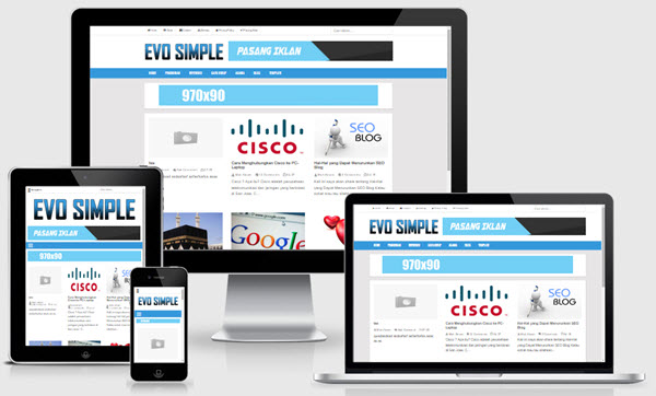 EvoSimple Responsive Blogger Templates - Kaizentemplate - Blogger ...