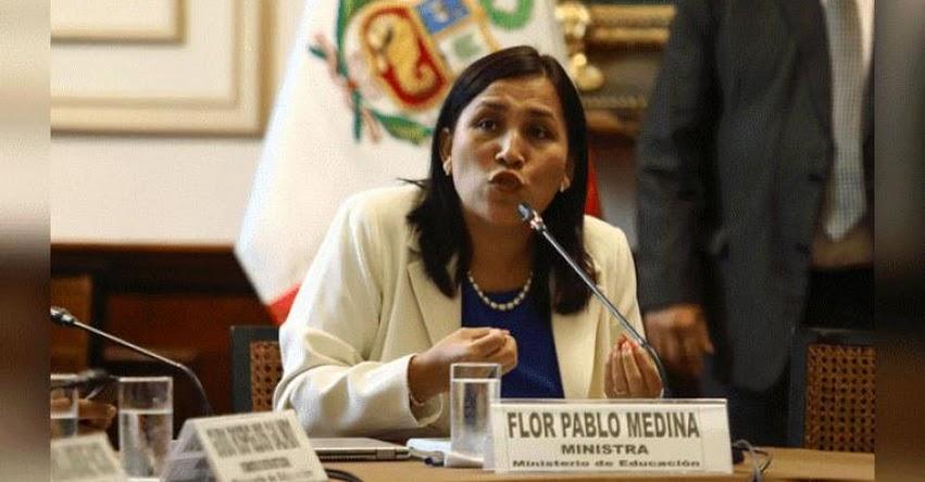 Es necesario hablar de educación sexual en el país, sostiene Ministra de Educación Flor Pablo Medina