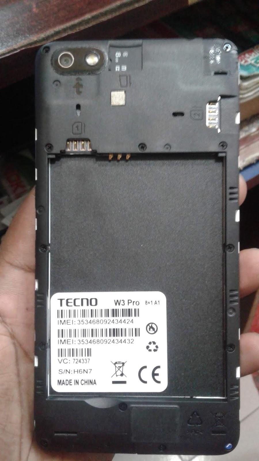 Tecno W3 pro flash file - robin mobile