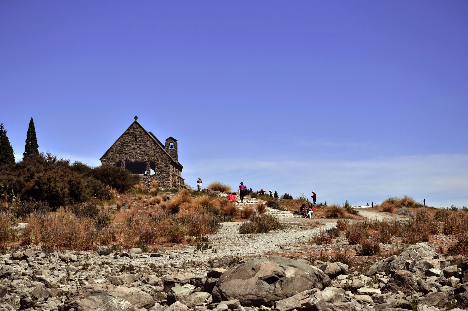 lake tekapo, New zealand, Lakes South island, canterbury, good shepherd church