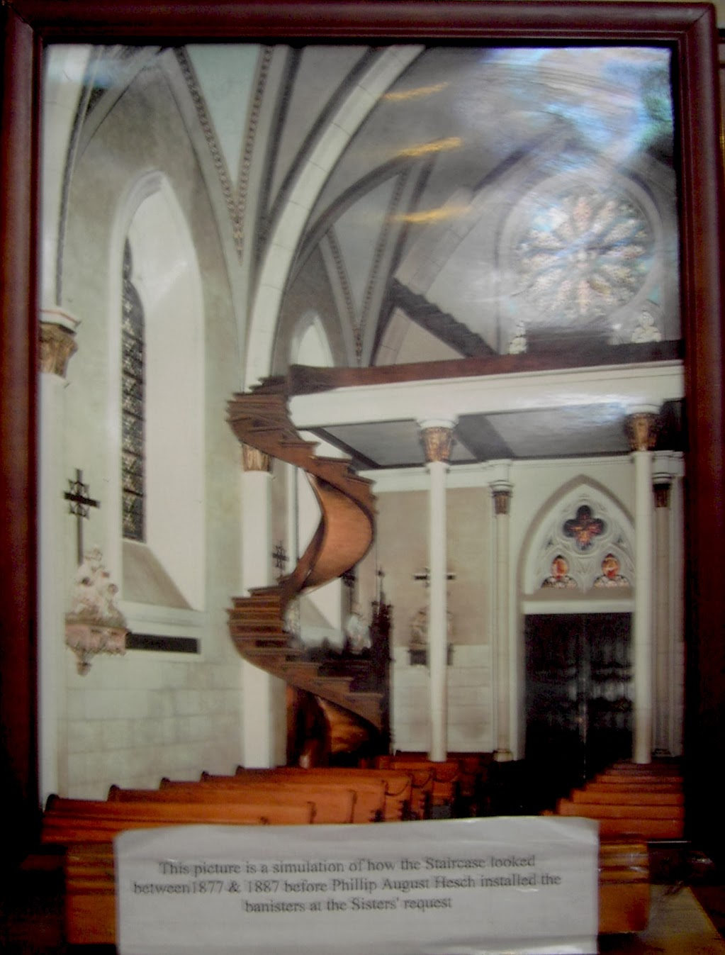 descubre tu mundo la escalera milagrosa de santa fe escalera de san jos. Black Bedroom Furniture Sets. Home Design Ideas