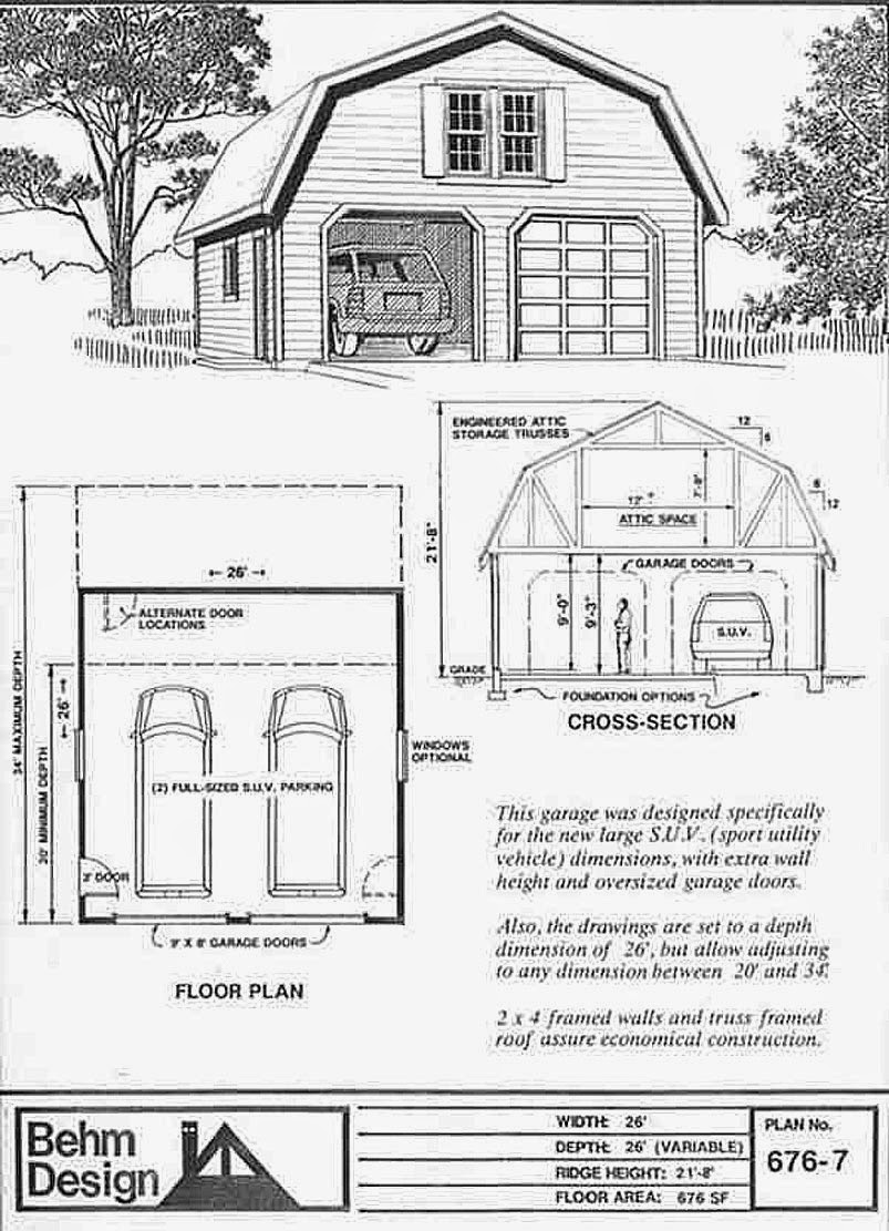 Garage Plans Blog Behm Design Garage Plan Examples Garage Plans – 26 X 26 Garage Plans