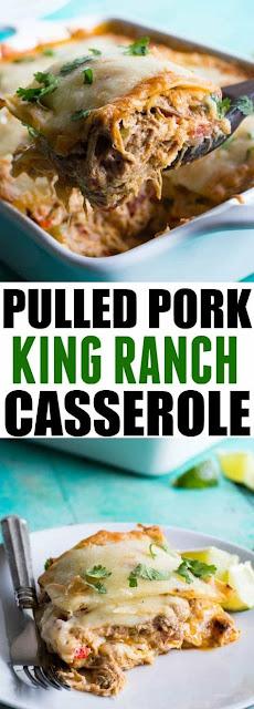 Pulled Pork King Ranch Casserole