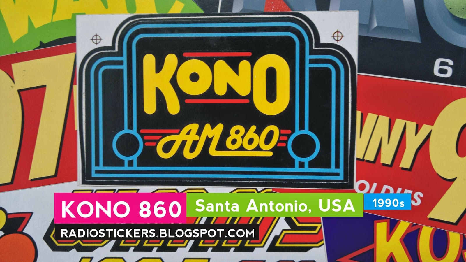 Radio Station Stickers And More Kono 101 1 San Antonio 2000s