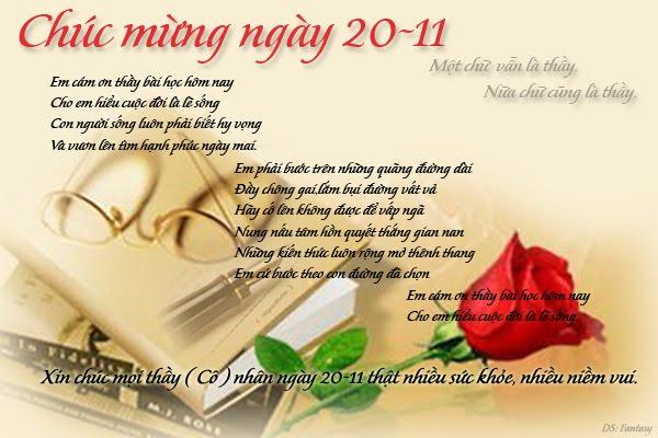 Những lời chúc 20/11 hay và ý nghĩa nhất mừng ngày nhà giáo Việt Nam