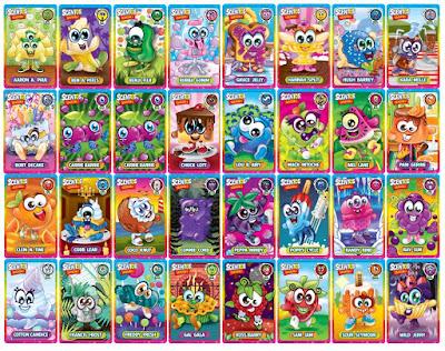 32 карточки коллекционера от Scentos WeVeel - серия 1