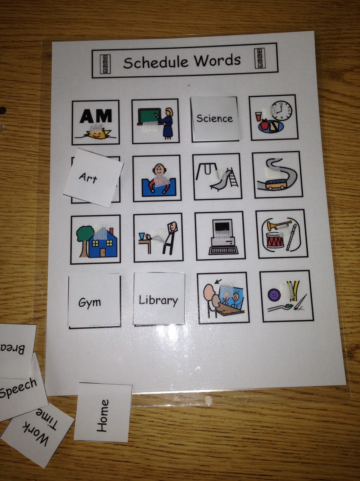 Autism Tank Fading From Picture Schedules To Word Schedules