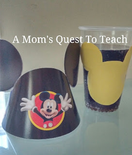Mickey Mouse hat and cup