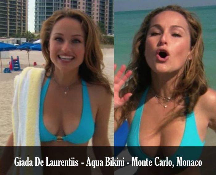 """06bd9de2d6 Retro Bikini: Giada De Laurentiis wears a """"Blue Bikini"""" in Monte ..."""