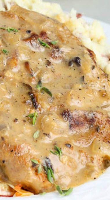 Baked Mushroom Pork Chops